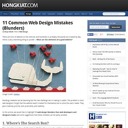 11 Common Web Design Mistakes (Blunders)
