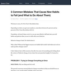 5 Common Mistakes That Cause New Habits to Fail (and What to Do About Them)