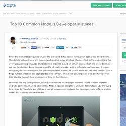 Ten Common Mistakes in Node.js Development