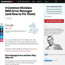 4 Common Mistakes With Error Messages (and How to Fix Them)