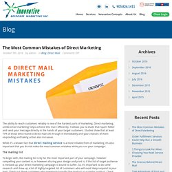 The Most Common Mistakes of Direct Marketing