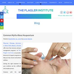 Common Myths About Acupuncture