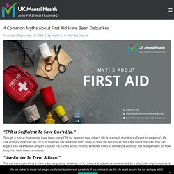 4 Common Myths About First Aid Have Been Debunked