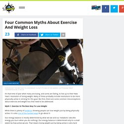 Four Common Myths About Exercise And Weight Loss