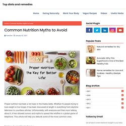 Common Nutrition Myths to Avoid