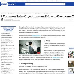 7 Common Sales Objections and How to Overcome Them