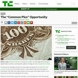 "The ""Common Plus"" Opportunity"