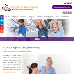 Common Types of Orthopedic Injuries