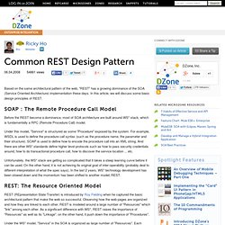 Common REST Design Pattern