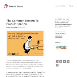 The Common Pattern To Procrastination