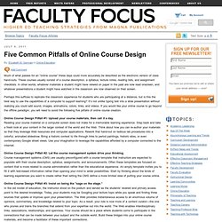Five Common Pitfalls of Online Course Design