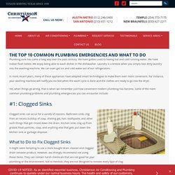 THE TOP 10 COMMON PLUMBING EMERGENCIES AND WHAT TO DO