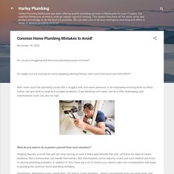 Common Home Plumbing Mistakes to Avoid!