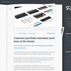 Common portfolio mistakes (and how to fix them)