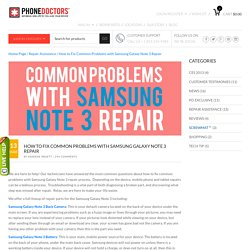 How to Fix Common Problems with Samsung Galaxy Note 3