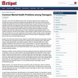 Common Mental Health Problems among Teenagers