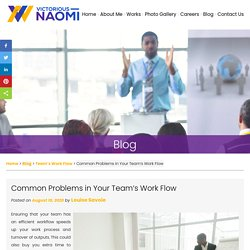 Common Problems in Your Team's Work Flow