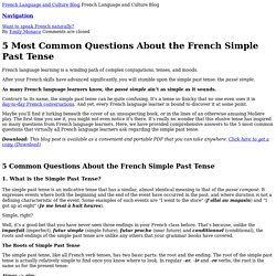 5 Most Common Questions about the French Simple Past Tense