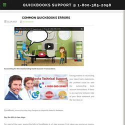 Common QuickBooks Errors