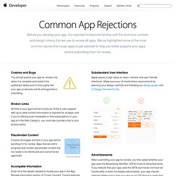 Common App Rejections - App Store