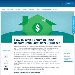 How to Keep 3 Common Home Repairs From Busting Your Budget