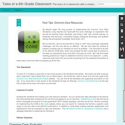 Tech Tips: Common Core Resources