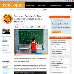 Common Core Math: Best Resources for High School Educators