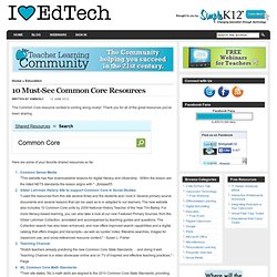 10 Must-See Common Core Resources