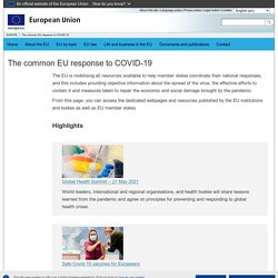 The common EU response to COVID-19