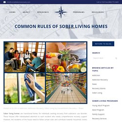 Common Rules Of Sober Living Homes