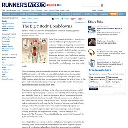 The Seven Most Common Running Injuries