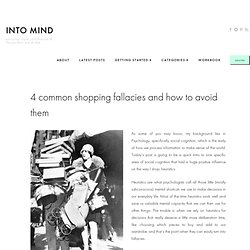 4 Common Shopping Fallacies and How to Avoid them