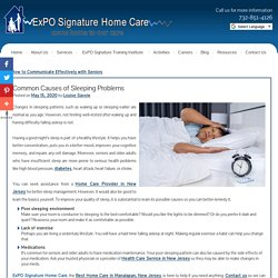 Common Causes of Sleeping Problems