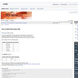 SQL Pivot