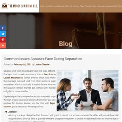 Common Issues Spouses Face During Separation
