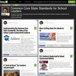 Common Core State Standards for School Leaders