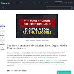 Most Common Subscription-Based Revenue Models