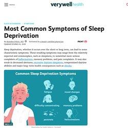 Most Common Symptoms of Sleep Deprivation