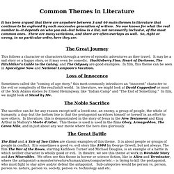 Common Themes in Literture - StumbleUpon