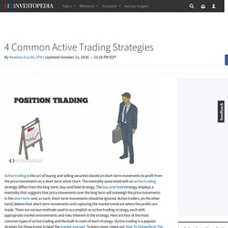 4 Common Active Trading Strategies