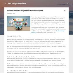 Common Website Design Myths You Should Ignore