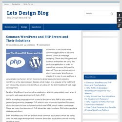 Common WordPress and PHP Errors to Avoid