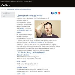Commonly Confused Words - Word origins - Word Lover's blog - Collins Dictionary