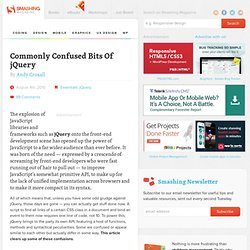 Commonly Confused Bits Of jQuery