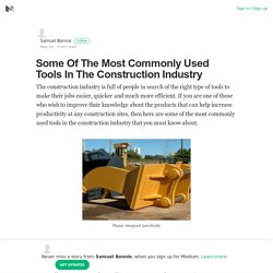 Common Tools Used In Construction Industry