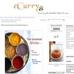The Commonly Used Indian Spices