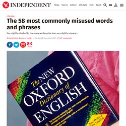 The 58 most commonly misused words and phrases