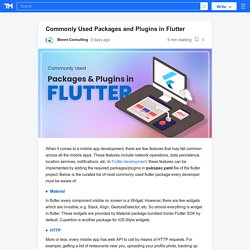 Commonly Used Packages and Plugins in Flutter
