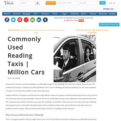 Commonly used reading taxis million cars