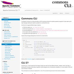 Commons CLI - Home
